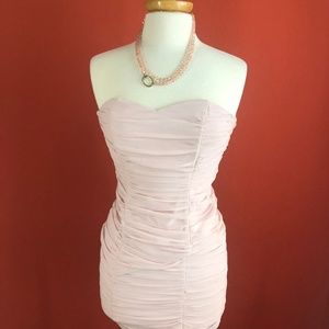 H&M Strapless Fitted Mini Dress Size 4